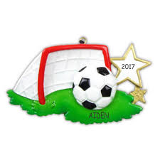 personalized soccer sports christmas ornament dibsies