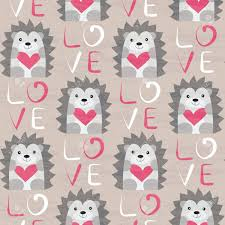 hedgehog wrapping paper hedgehog with heart seamless pattern design for valentines day