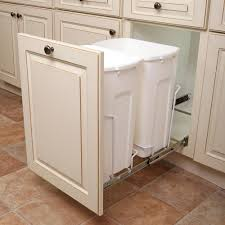 trash can attached to cabinet door knape vogt 14 375 in x 22 in x 18 813 in 35 qt in cabinet