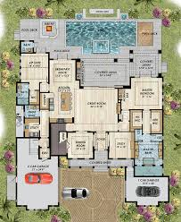 florida house plans with pool coastal florida mediterranean house plan 71542 mediterranean house