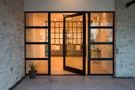 cat running into glass door residential galleries