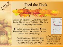 columbus baptist church provides thanksgiving dinner local news