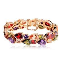 colorful zircon 24k gold gold plated