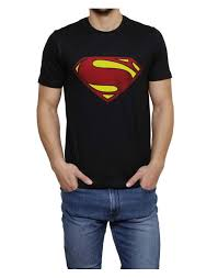 buy cool black color superman printed shirt
