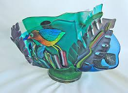 Vases And Bowls Glass Wave Vases And Bowls By Blue Heron Glass Art Page