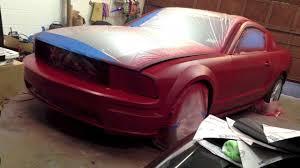 Black Red Mustang Matte Red Mustang Plasti Dip Youtube
