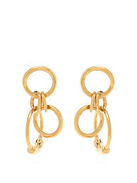 drop hoop earrings drop hoop earrings chloé matchesfashion us