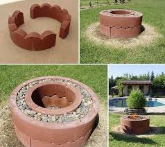 diy backyard pit awesome diy outdoor pit landscaping backyards ideas