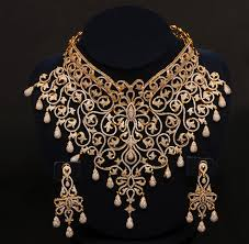 wedding necklace designs gold and diamond jewellery designs indian diamond choker bridal