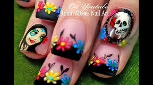 the day of the dead nails chrome mirror nail art design tutorial