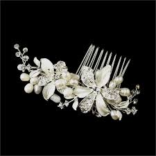 hair brooch design bridal hair comb freshwater pearl flowers wedding comb