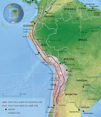 Peru South America Map by Inca Road System Wikipedia