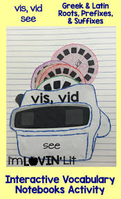 interactive vocabulary notebooks prefixes roots and activities