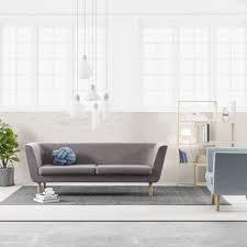 design house stockholm nest sofa hellgrau stockholm nest and