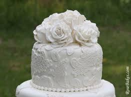 wedding cake lace vintage lace wedding cake with sugar roses
