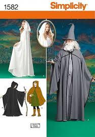 simplicity pattern 1582 cape lotr hobbit elf wizard gandalf