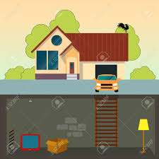 modern house garage traditional family house modern house with basement a car and