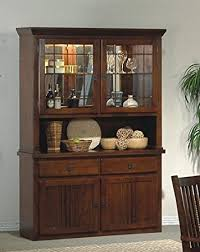 mission style china cabinet amazon com mission style solid wood china cabinet buffet hutch