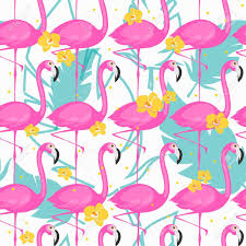 tropical wrapping paper vector seamless pattern with pink flamingos vector summer
