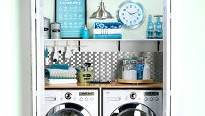 Small Laundry Room Decorating Ideas Laundry Makeover Ideas Closet Laundry With Shelf And Storage Small