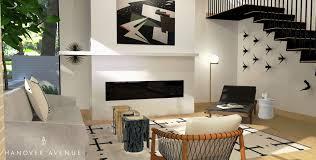 modern dallas living room hanover avenue
