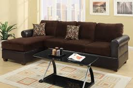 Best Furniture Prices Los Angeles Radley Chocolate Microsuede Sectional Sofa Steal A Sofa