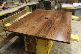 Red Oak Table by Hand Made Solid 6 4 Red Oak Rustic Confrence Table By R J Hoppe