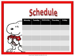 calendars teacher calendar template snoopy weekly schedule printable weekly schedule pinterest
