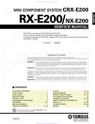 yamaha cdx e200 service manual