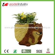 Design Flower Pots China Latest Design Decorative Resin Flower Pot With Cow Statue