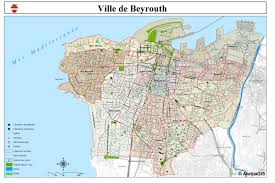 Map Of Lebanon Large Detailed Road Map Of Beirut Beyrouth City Beirut