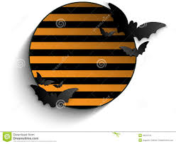 halloween stripe background halloween bat circle frame striped background vect stock image