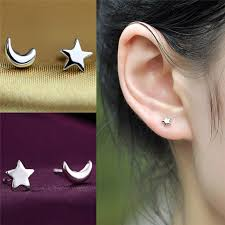 top earing hot new fashion small moon stud earring top quality