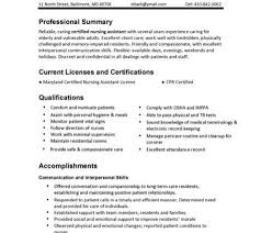 Sample Cna Resumes by Cna Resume Samples Free Certified Nursing Assistant Resume