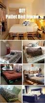 Pallet Platform Bed Diy White Pallet Platform Bed With Storage For Stylish Modern