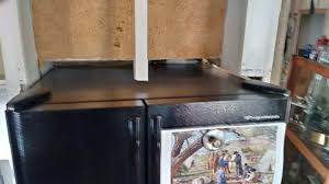 how to trim cabinet above refrigerator i just got a new refrigerator and i had to cut out the