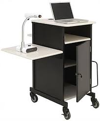 multimedia cart with locking cabinet document camera cart locking cabinet adjustable side shelf