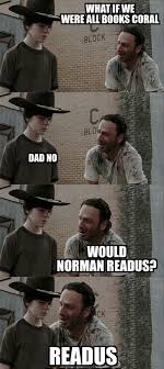 The Walking Dead Meme - he s a book worm the walking dead the walking dead meme twd