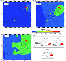 Generic Mapping Tools Complex Wave Propagation Revealed By Peak Ground Velocity Maps In