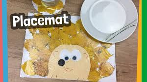 diy autumn placemat easy paper craft for kids youtube
