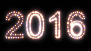 new year 2016 text animated lights stock footage 12926291