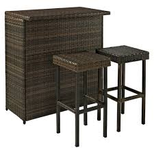 palm harbor 3 piece wicker patio bar furniture set target