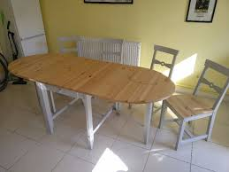 Ikea Collapsible Table by Expandable Dining Table With Four Chairs Ikea Gamleby In