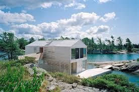 floating house on lake huron ontario canada