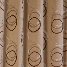 Brown Patterned Curtains Brown Curtains With Circles Curtains Ideas Circle Pattern Curtains