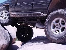 purple jeep cherokee zj rock sliders 93 98 grand cherokee rock sliders tnt customs