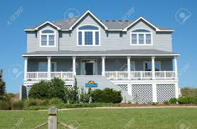 beach house in the outer banks of north carolina stock photo