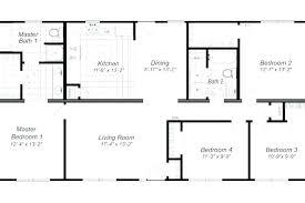 4 bedroom ranch floor plans 4 bedroom ranch plans flowzeen com