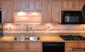 Without The Backsplash This Kitchen Would Still Have A Very - Brown tile backsplash