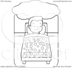 cartoon clipart of a black and white little boy dreaming and